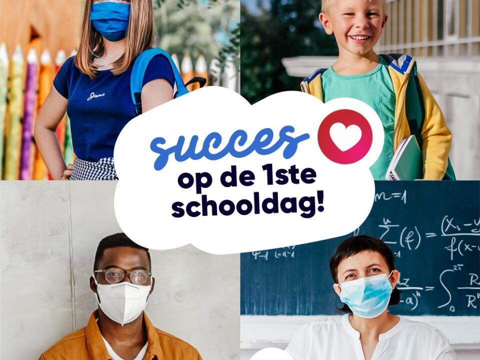 succes op de eerste schooldag
